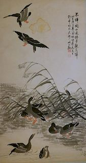 AFTER BIAN SHOUMIN CHINESE WATERCOLOR PAINTING