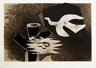 """Braque, George (After),  French 1882-1963,""""L'Oiseau et son Nid (The Bird and It's Nest)"""" ,"""