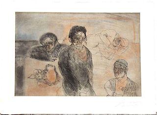 """Cuevas,    Jose Luis,  Mexican b. 1934,""""Viaje A Marruecos"""" from the Barcelona Suite,"""