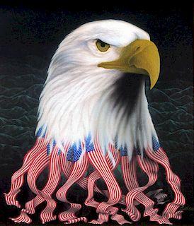 (Marcen?),   American 20th C.,(Patriotic Eagle),