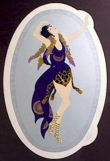 "Erte (Romain D' Tirtoff),   Russian/French 1892-1990, ""Bacchante"","