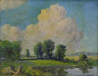 WENDT, William. Oil on Board. Summer Landscape.