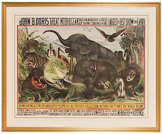 John B. Doris' Great Inter-Ocean Museum, Menagerie & Circus.