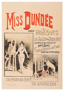 Miss Dundee and Her 8 Dogs.