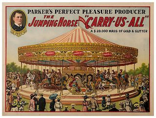 """Parker's Perfect Pleasure Producer. The Jumping Horse """"Carry-Us-All."""""""