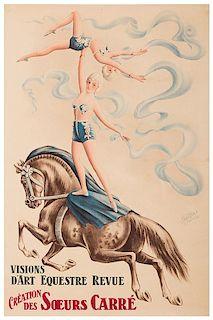 Visions D'Art Equestre Revue. Création Des Soeurs Carré.