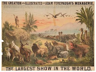 Adam Forepaugh's Largest Show in the World. The Creation.