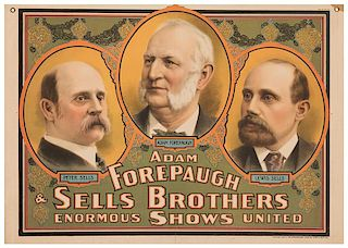 Adam Forepaugh & Sells Brothers Enormous United Shows. Adam Forepaugh. Peter Sells. Lewis Sells.