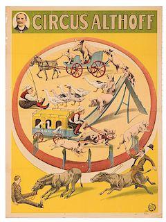 Circus Althoff. Trained Animals Circus Poster.