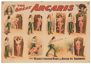 The Great Arcaris. The World's Greatest Knife and Battle Ax Throwers.