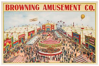 Browning Amusement Co. Stock Circus/Carnival Poster.