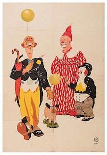 Adolf Friedlander Stock Circus Poster.