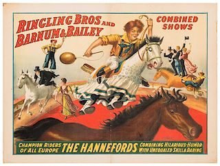 Ringling Brothers and Barnum & Bailey. The Hannefords. Champion Riders of All Europe.