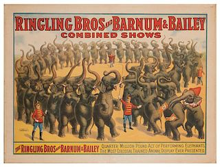 Ringling Brothers and Barnum & Bailey. Quarter Million Dollar Pound Act of Performing Elephants.