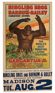 Ringling Brothers and Barnum & Bailey. Gargantua the Great. The World's Most Terrifying Living Creature!