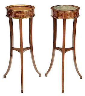 Pair Regency Style Parcel Gilt Plant Stands