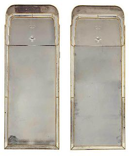 Pair Italian Queen Anne Style Hall Mirrors