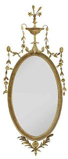 Adam Carved and Gilt Wood Mirror