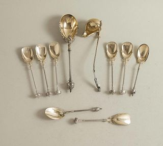 George Sharp Silver Ice Cream & Serving Spoons