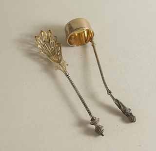 Two Figural Silver Serving Pieces, George Sharp