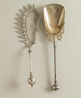 Two Silver Serving Pieces, George Sharp