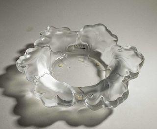 """Lalique Crystal """"Honfleur"""" Bowl"""