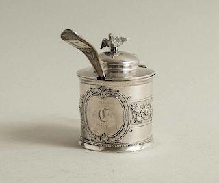 Vanderslice & Co Silver Mustard Pot and Ladle