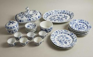 Assorted Meissen Blue and White Onion Tableware