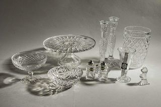 Assorted Crystal Table Items, Waterford & Tiffany