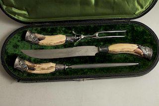 J.A. Henckels Three Piece Carving Set, circa 1900
