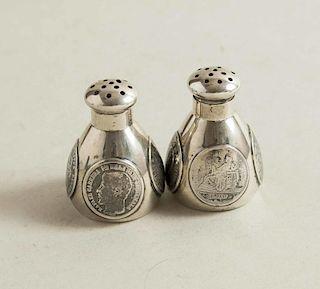 Sterling Salt & Pepper Shakers, Geo. Shreve
