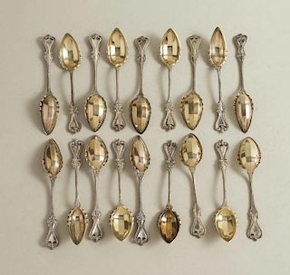 18 Sterling Fruit Spoons, Towle, Old Colonial