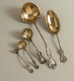 Five Sterling Serving Pieces, Old Colonial