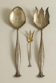 Three Sterling Silver Serving Pieces, George Shiebler & Co