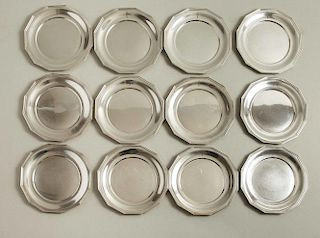 Sterling Silver Canape Plates, Wallace