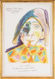 Picasso, Galerie Louise Leiris - Harlequin