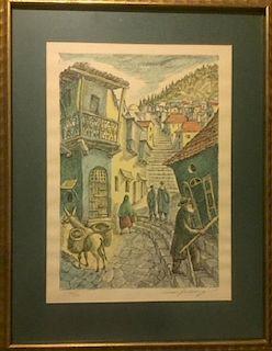 Chaim Goldberg, Street Scene in Safed