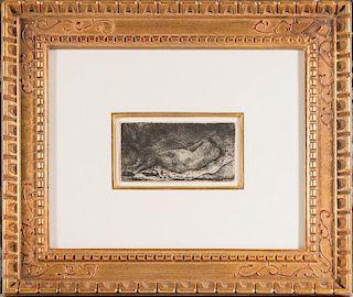 Rembrandt, A Negress Lying Down