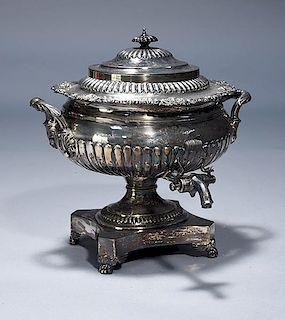 English George III sterling tea urn