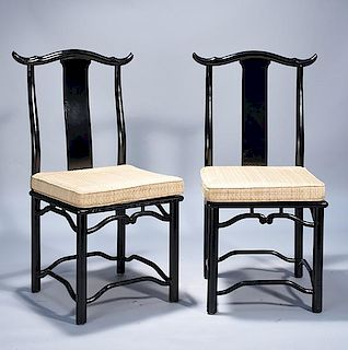 Chinese Lacquer Chairs
