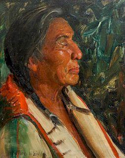 Kathryn Woodman Leighton, (American, 1875-1952), Chief Wildman