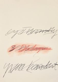 Cy Twombly THREE DIALOGUES Poster