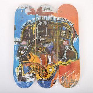 Jean-Michel Basquiat (after) Skateboard Decks, Set of 3