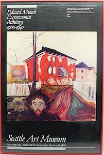 """""""Edvard Munch Seattle Art Museum"""" Framed Poster"""