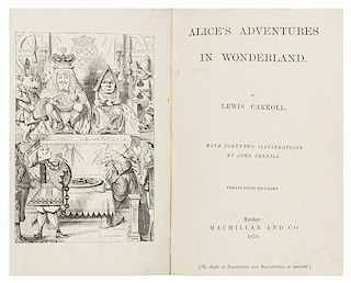 "DODGSON, Charles Lutwidge (""Lewis Carroll"") (1832-1898). Alice's Adventures in Wonderland. - Through the Looking-Glass. Londo"