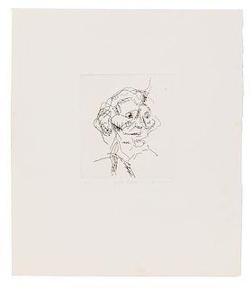 Frank Auerbach, (British, b. 1931), Gerda Boehm (from Six Etchings of Heads), 1980