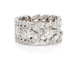 A Platinum and Diamond Eternity Band, 7.80 dwts.