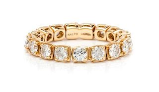 An 18 Karat Yellow Gold and Diamond Flexible Eternity Band, Ralph Lauren, 3.20 dwts.