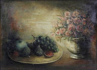 STERLING, Marc. Oil on Canvas. Still Life with