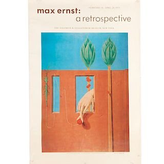 Max Ernst, signed poster